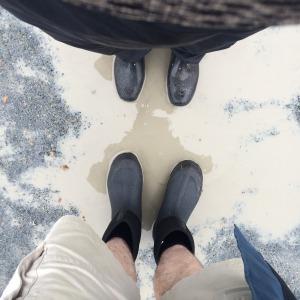 Diane & Bretan's new gumboots