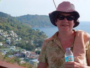 Susan at the viewpoint